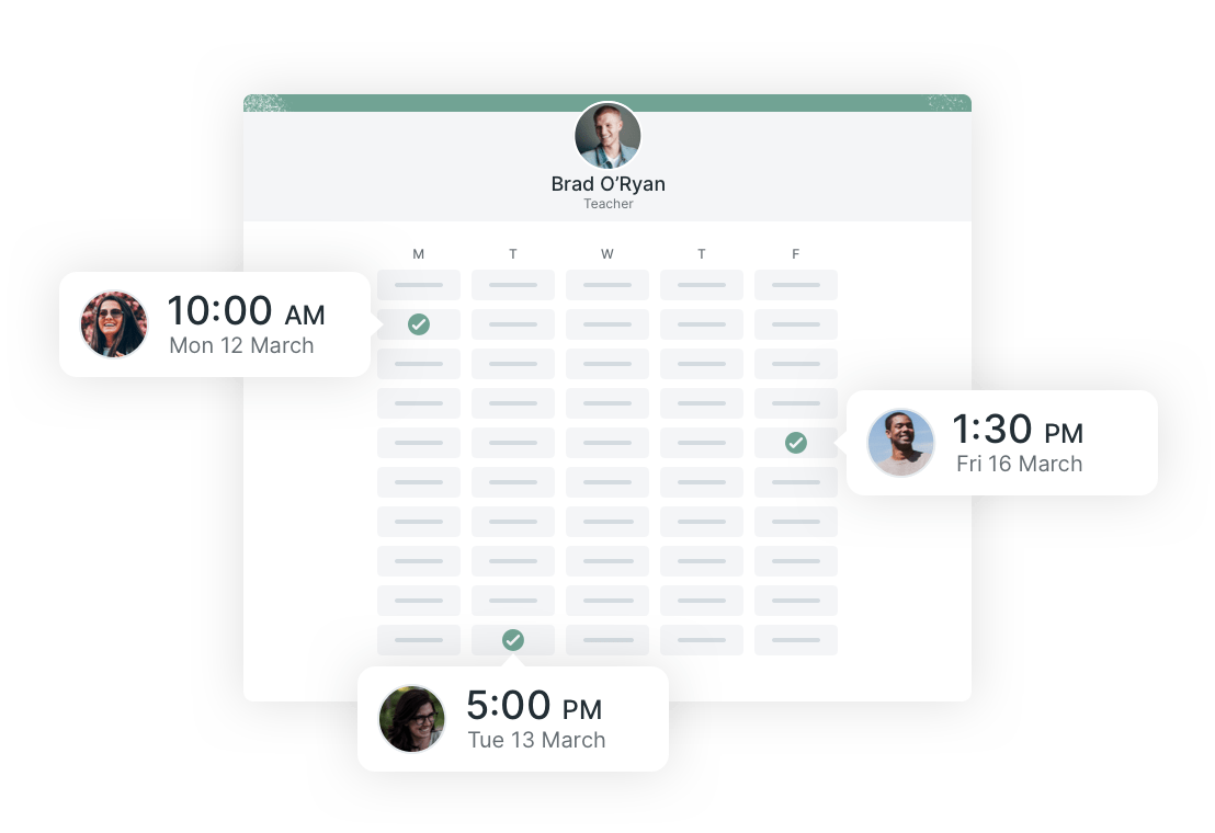 Customers can schedule meetings from anywhere