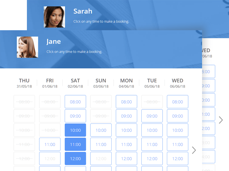 Consistent booking pages with templating